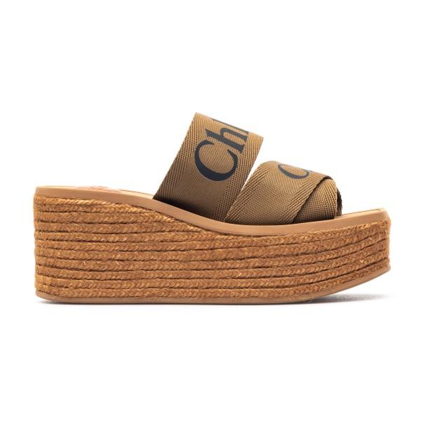 High sandals with brown crossed straps                                                                                                                Chloe' C21U449 back