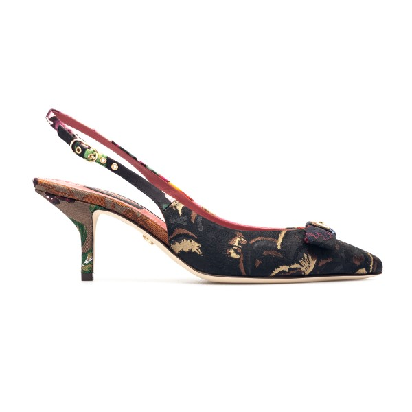 Patchwork-style multicolored pump                                                                                                                     Dolce&gabbana CG0464 back
