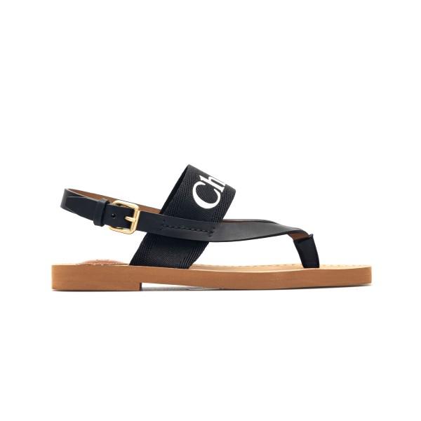 Black sandals with logo band                                                                                                                          Chloe' CHC20U327 front