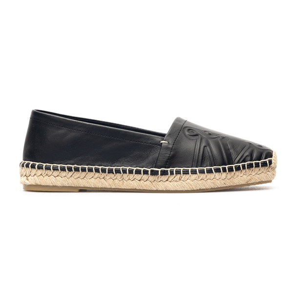Black leather espadrilles with logo                                                                                                                   Max Mara ELI front