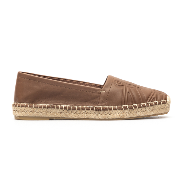 Brown leather espadrilles with logo                                                                                                                   Max Mara ELI back