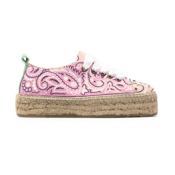Pink espadrilles with laces                                                                                                                           Manebi G16E0 back