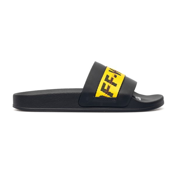 Rubber slippers with logo band                                                                                                                        Off white OMIC001R21MAT002 front