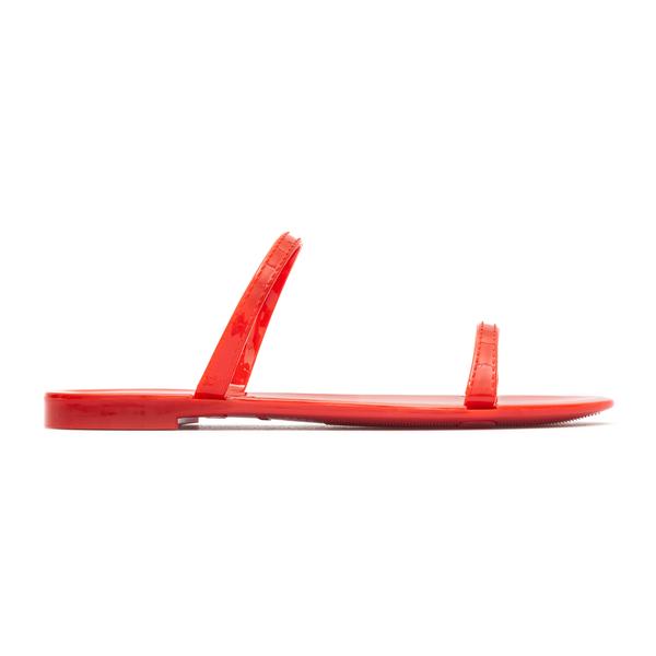Red rubber sandals                                                                                                                                    Stuart Weitzman S0820 back
