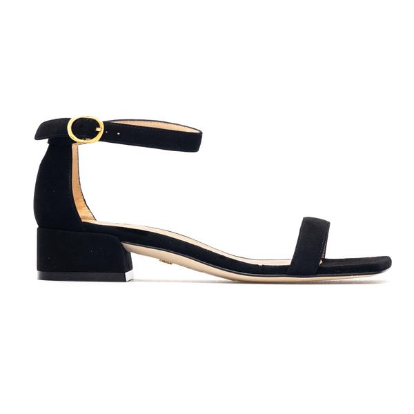 Black open sandals with low heel                                                                                                                      Stuart Weitzman S0829 back