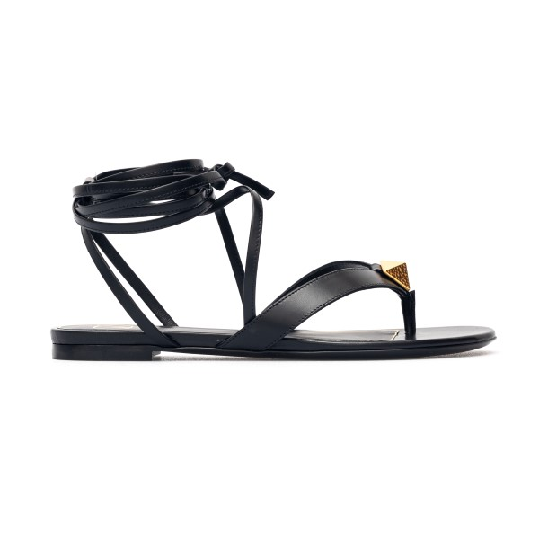 Black sandals with ankle laces                                                                                                                        Valentino Garavani VW2S0BJ7 back
