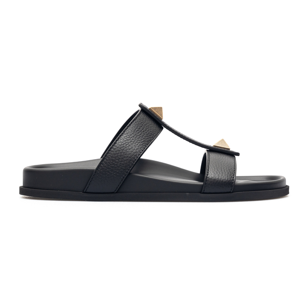 Black sandals with gold studs                                                                                                                         Valentino Garavani VY0S0E43 back