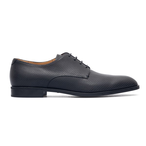 Black lace-up shoes with texture                                                                                                                      Emporio Armani X4C587 back