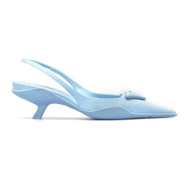 Light blue sandals with rubber sole                                                                                                                   Prada 1I565MF back