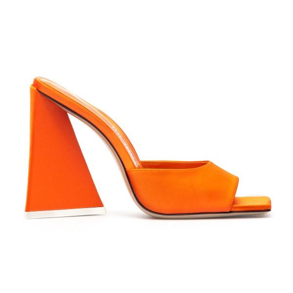 Mules arancioni con tacco largo                                                                                                                       Attico 211WS000 fronte