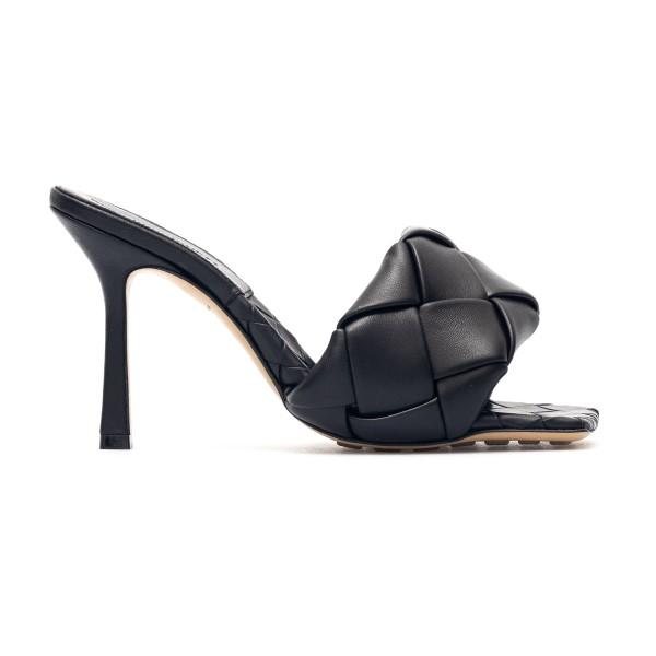 Black woven leather mules                                                                                                                             Bottega Veneta 608854 back
