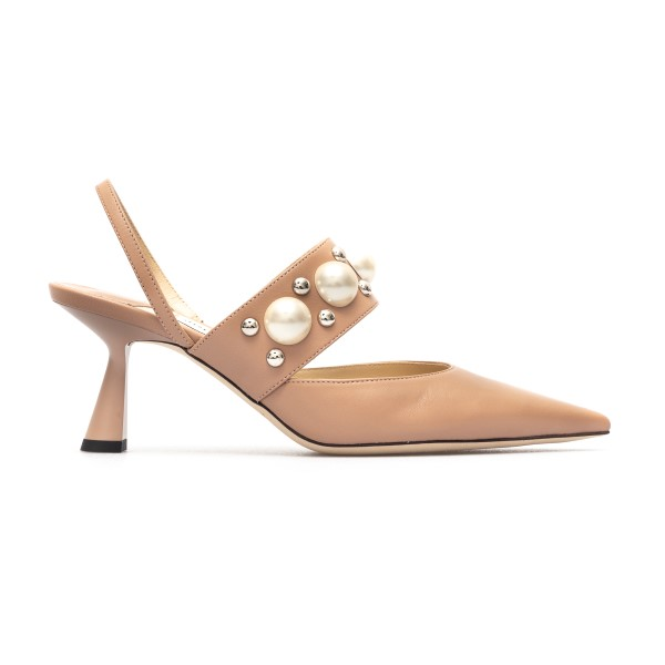 Pink sandals with pearls and studs                                                                                                                    Jimmy Choo BRESLIN65 back