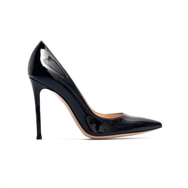 Classic black decolleté with shiny effect                                                                                                             Gianvito Rossi G28470 back