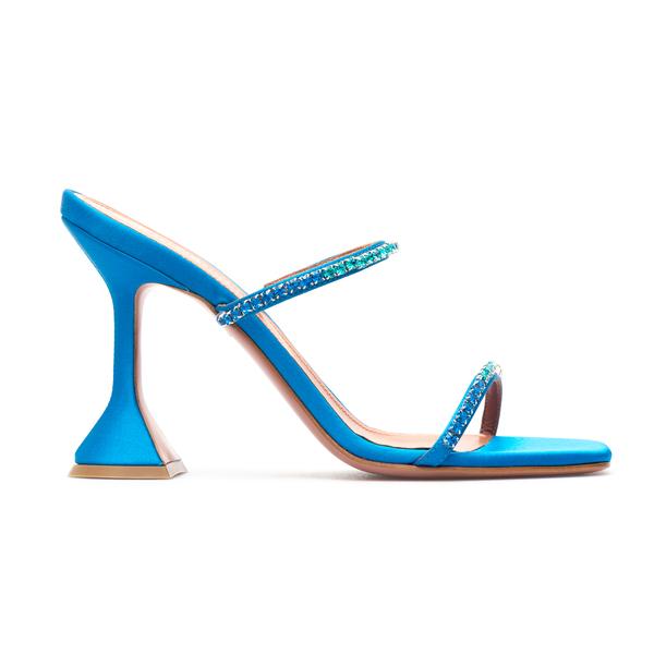 Light blue sandals with rhinestones                                                                                                                   Amina Muaddi GILDAOMBRESLIPPER back