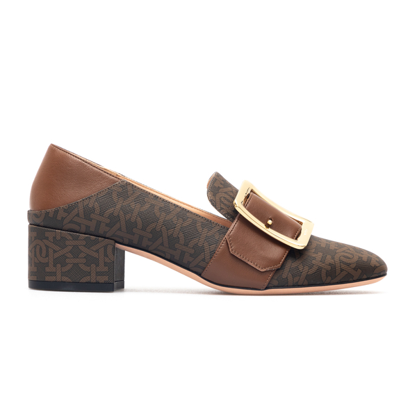 Brown pumps with logo pattern                                                                                                                         Bally JANELLE40TPM back