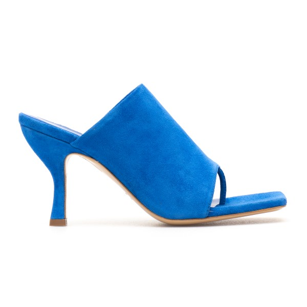Blue thong mules                                                                                                                                      Gia Couture PERNI02 back