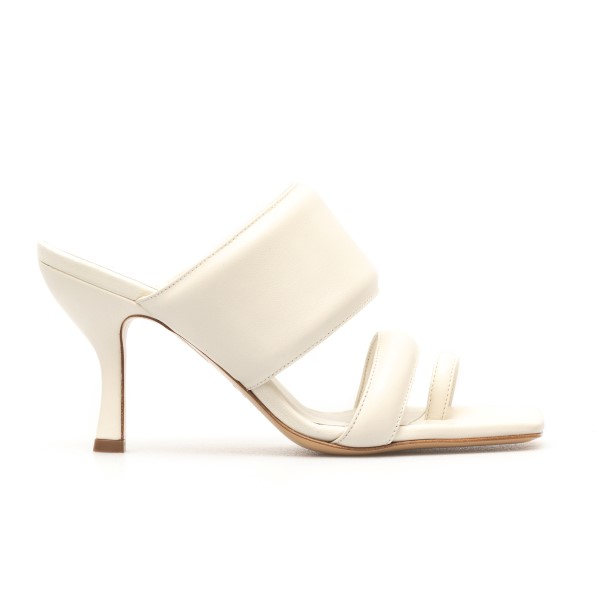 Sandali bianchi in design imbottito                                                                                                                   Gia Couture PERNI10 retro