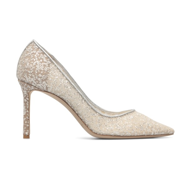 Decolleté with silver glitter                                                                                                                         Jimmy Choo ROMY85 back