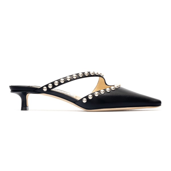 Black mules with silver studs                                                                                                                         Jimmy Choo ROS35 back
