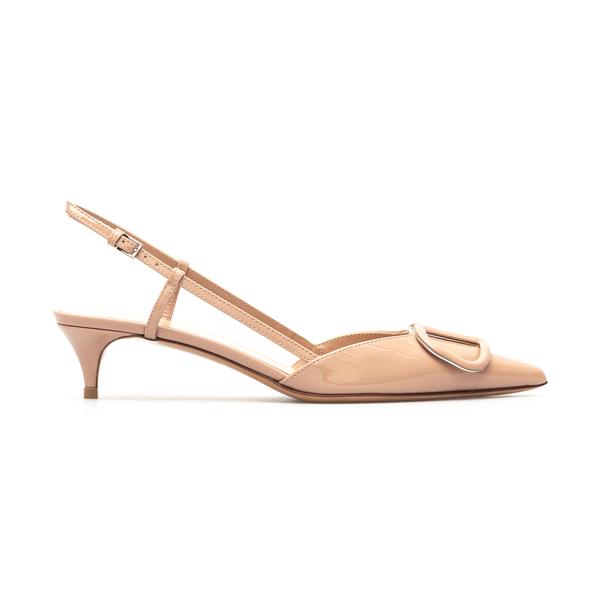 Shiny pink sandals with logo                                                                                                                          Valentino Garavani VW0S0Q70 back
