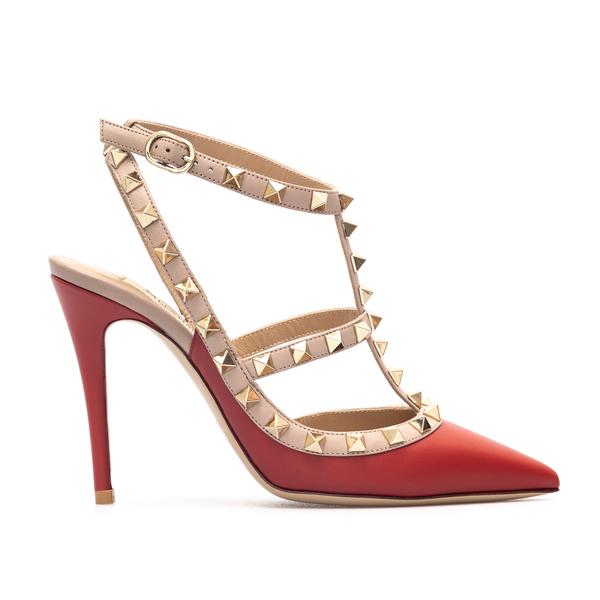 Decolleté rosse con borchie oro                                                                                                                       Valentino Garavani WW2S0393 retro