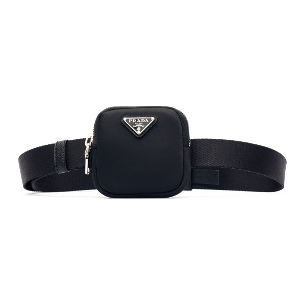 Black belt with small pouch                                                                                                                           Prada 1CN076 front