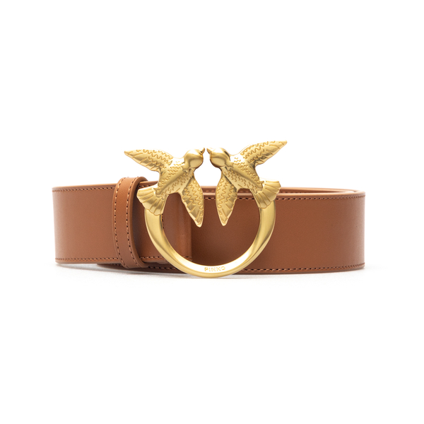 High brown belt with gold logo                                                                                                                        Pinko 1H20WJ back