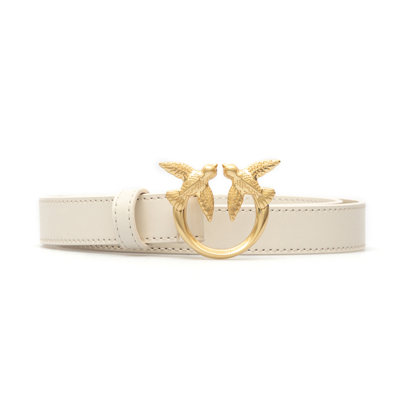 Thin cream belt with gold logo                                                                                                                        Pinko 1H20WV back