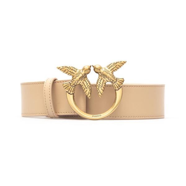 Pink belt with golden logo                                                                                                                            Pinko 1H20X4 back