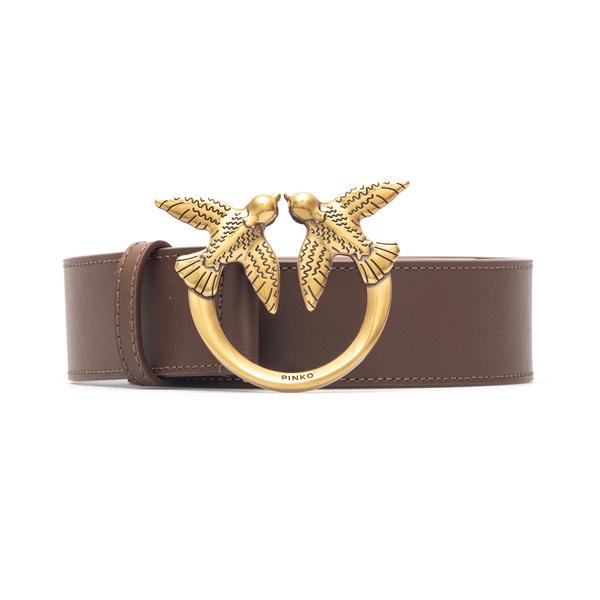 Brown belt with golden logo                                                                                                                           Pinko 1H20X4 back