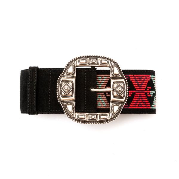 Black belt with geometric embroidery                                                                                                                  Etro 1N103 back