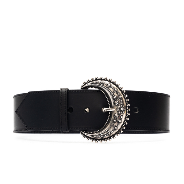 Black leather belt with metal buckle                                                                                                                  Etro 1N172 back