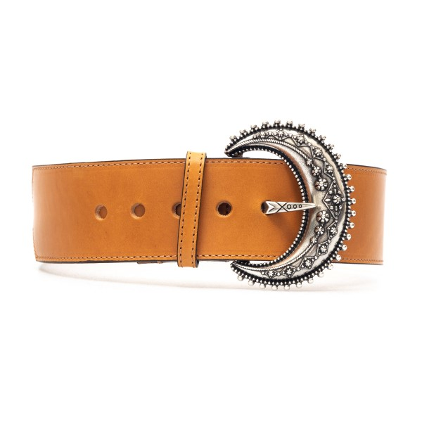 Brown belt with silver buckle                                                                                                                         Etro 1N172 front