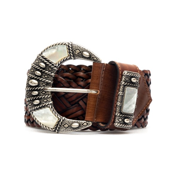 Braided brown belt                                                                                                                                    Etro 1N439 back