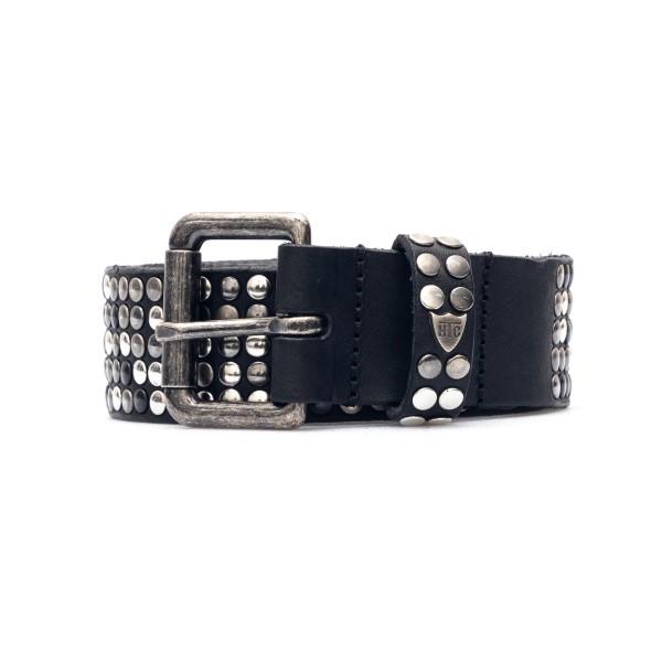 Cintura nera con borchie argentate                                                                                                                    Htc Los Angeles 21WHTCI001 retro