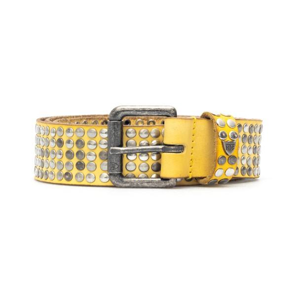 Cintura gialla con borchie                                                                                                                            Htc Los Angeles 21WHTCI004 retro