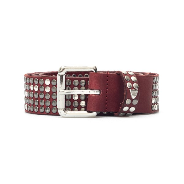 Cintura rossa con borchie                                                                                                                             Htc Los Angeles 21WHTCI004 retro