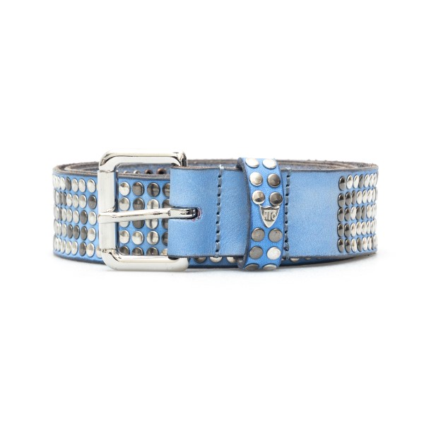 Cintura azzurra con borchie                                                                                                                           Htc Los Angeles 21WHTCI004 retro