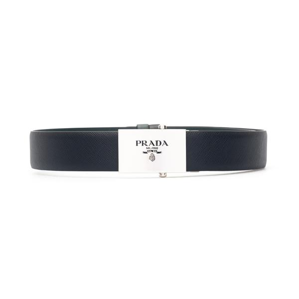 Black belt with silver buckle                                                                                                                         Prada 2CM228 back