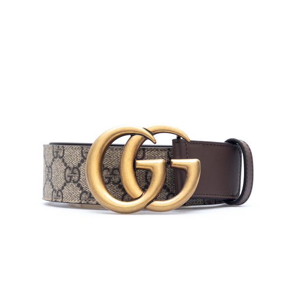 Beige belt with GG pattern                                                                                                                            Gucci 400593 back