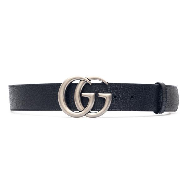 Cintura nera con logo argentato                                                                                                                       Gucci 406831 retro