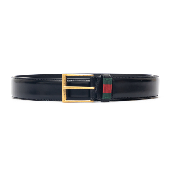Leather belt with square buckle                                                                                                                       Gucci 495125 back
