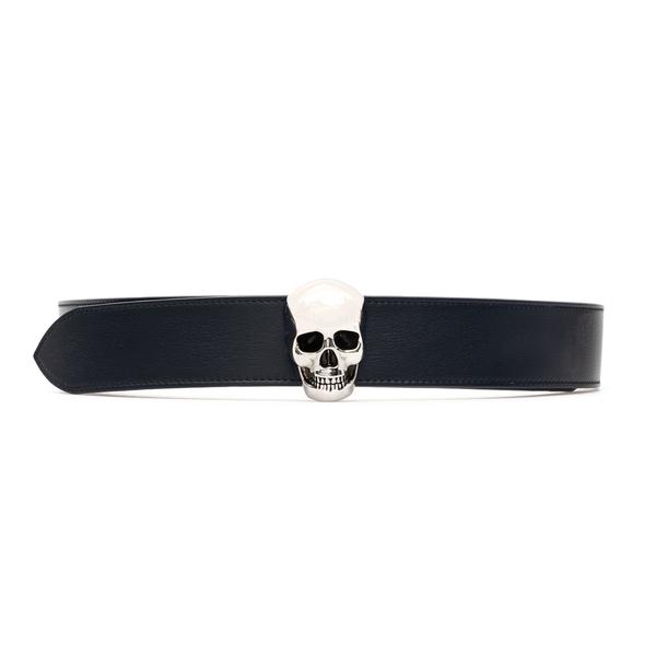 Black belt with silver skull                                                                                                                          Alexander Mcqueen 575970 back