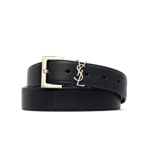 Black belt with logo                                                                                                                                  Saint Laurent 612616 back