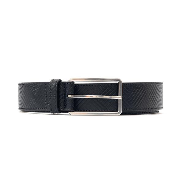 Black belt with striped texture                                                                                                                       Bottega Veneta 657163 back