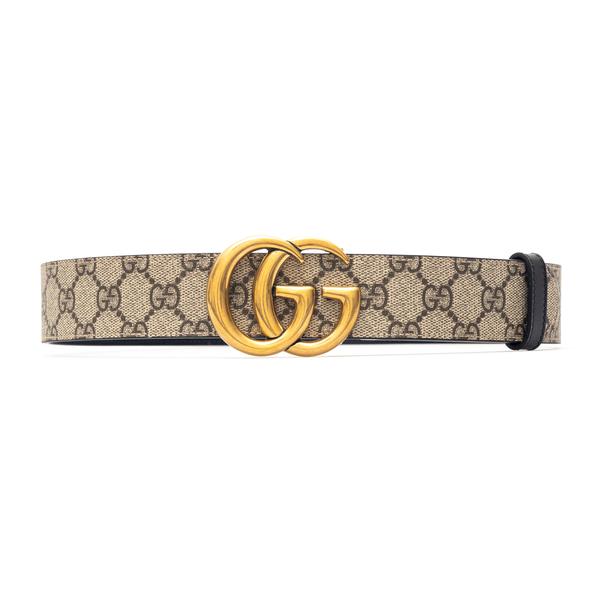 Beige belt with golden logo buckle                                                                                                                    Gucci 659416 back
