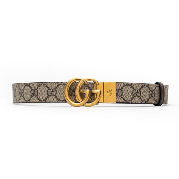 Beige belt with golden logo                                                                                                                           Gucci 659417 back