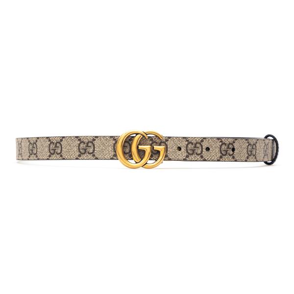 Beige belt with gold logo                                                                                                                             Gucci 659418 back