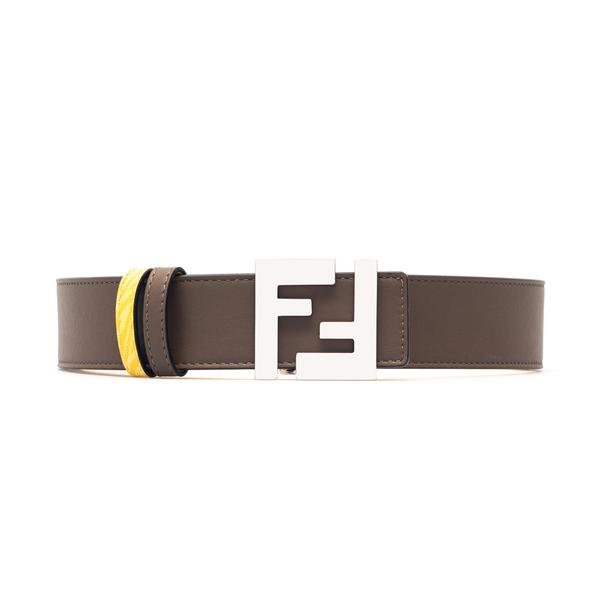 Brown belt with logo buckle                                                                                                                           Fendi 7C0424 back