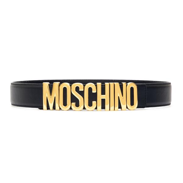 Black belt with golden logo                                                                                                                           Moschino 8007 back